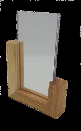 Perspex Table Top Wooden Menu Holder