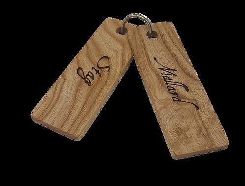 Hard Wood Key Fobs (Set of 2)
