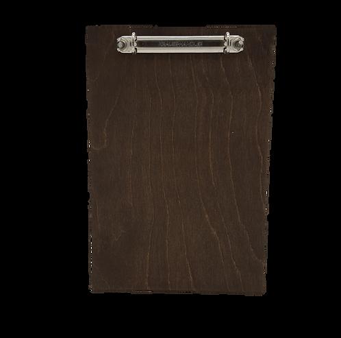 Oxford Clip Board Wooden Menu Holder - A6 / A5 / A4