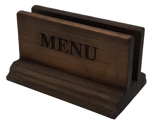Classic Wooden Menu Holder