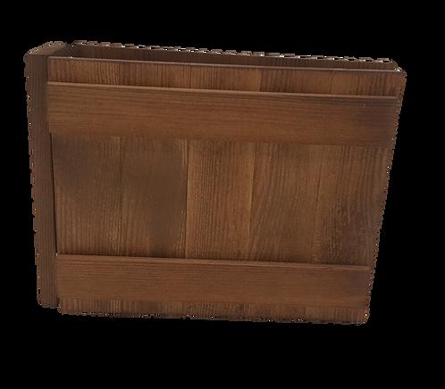 Lancaster Wooden Menu Cover - Landscape A5 / A4