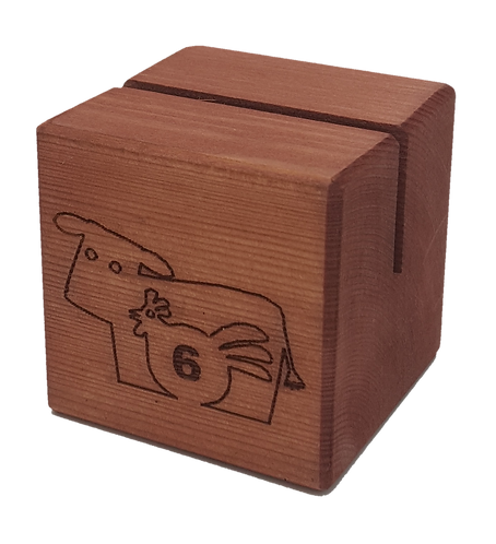 The Cube Wooden Menu Holder