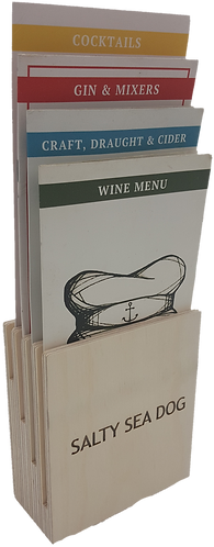 Quatro Wooden Menu Holder