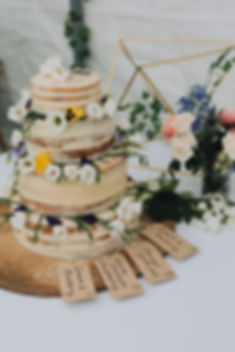 wedding cake with naturalistic floral design