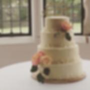 White chocolate & raspberry wedding cake