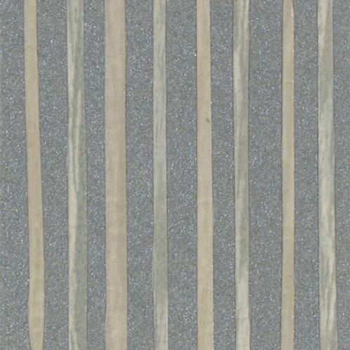 W616-15   ZEBRA PAPER WAVE BLUE ON GREY