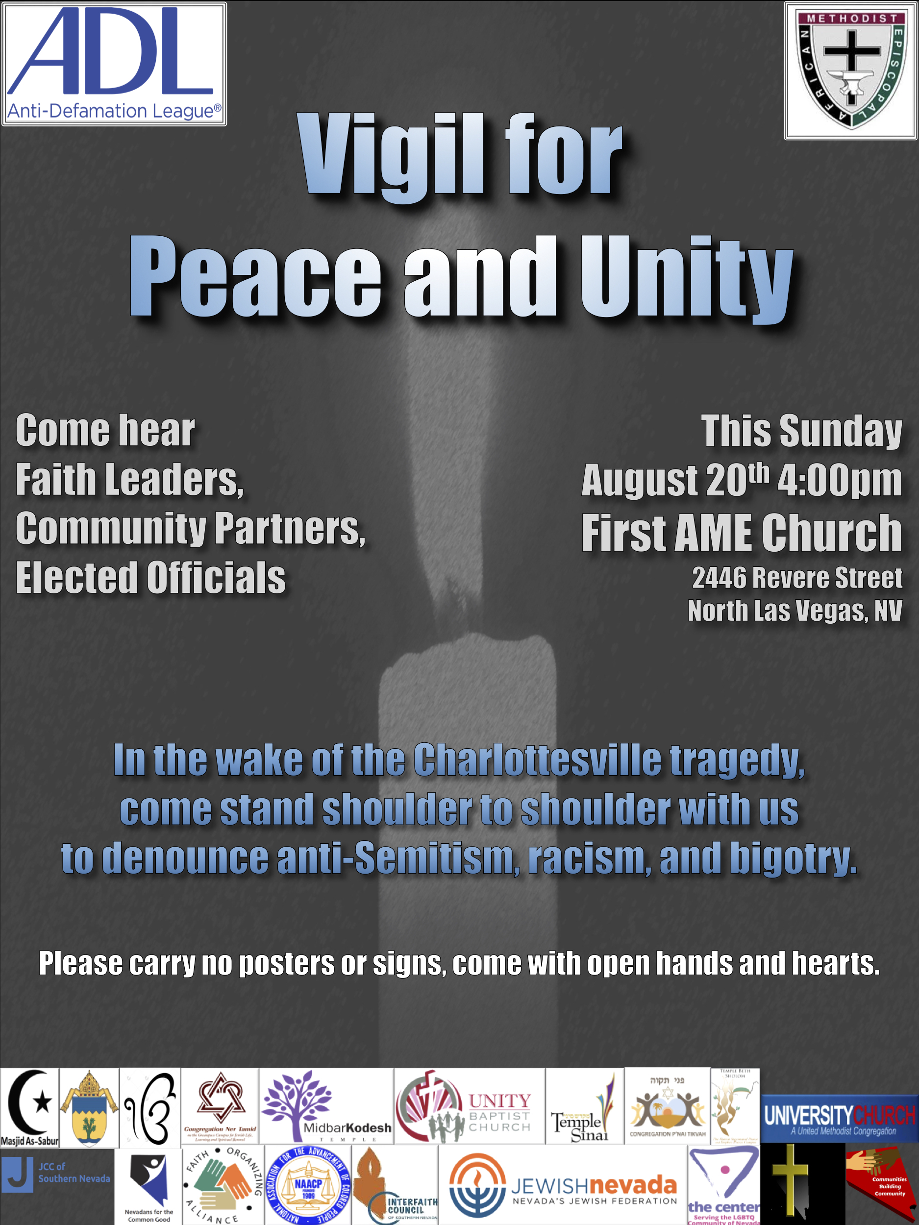 Vigil for peace and Unity