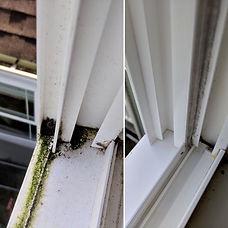 Dirty window sills, clean window sills