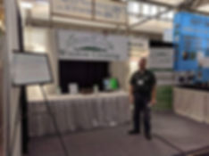 Owner, Daniel Campbell, at the Syracuse Home & Garden Show