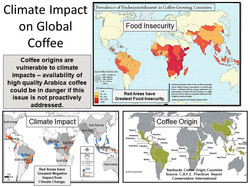 Map of Coffee and Climate Issues