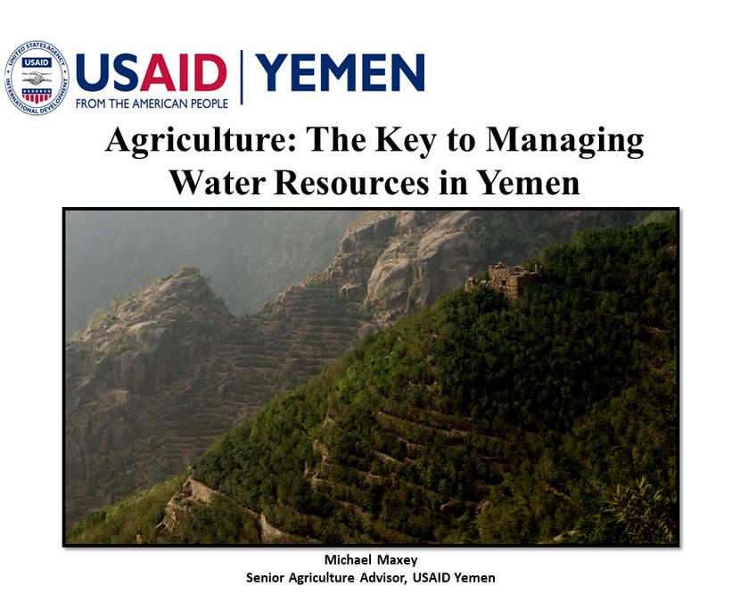 Agriculture - The Key to Water Management