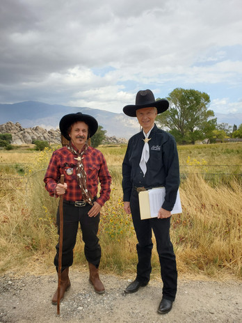 Lone Pine Film Festival Tour with Dick Bann at Lubken Ranch Oct 2021 with Marc Wanamaker a