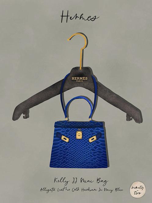 hey bag, blue croc