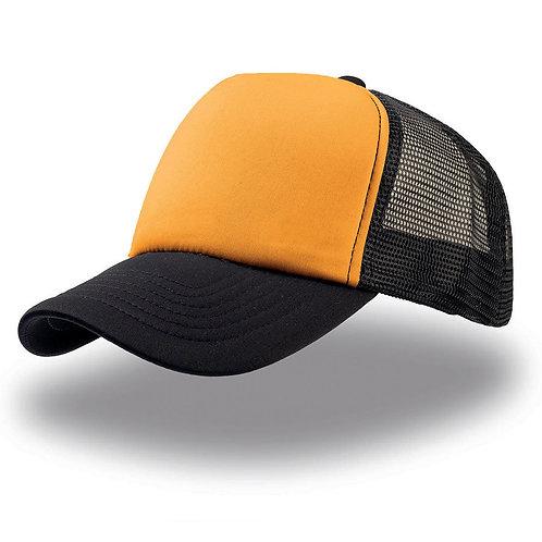 Кепка / Бейсболка (оранжево-черная)