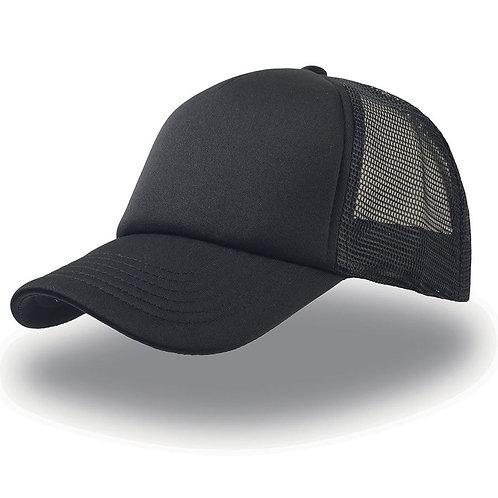 Кепка / Бейсболка с сеткой (черная)