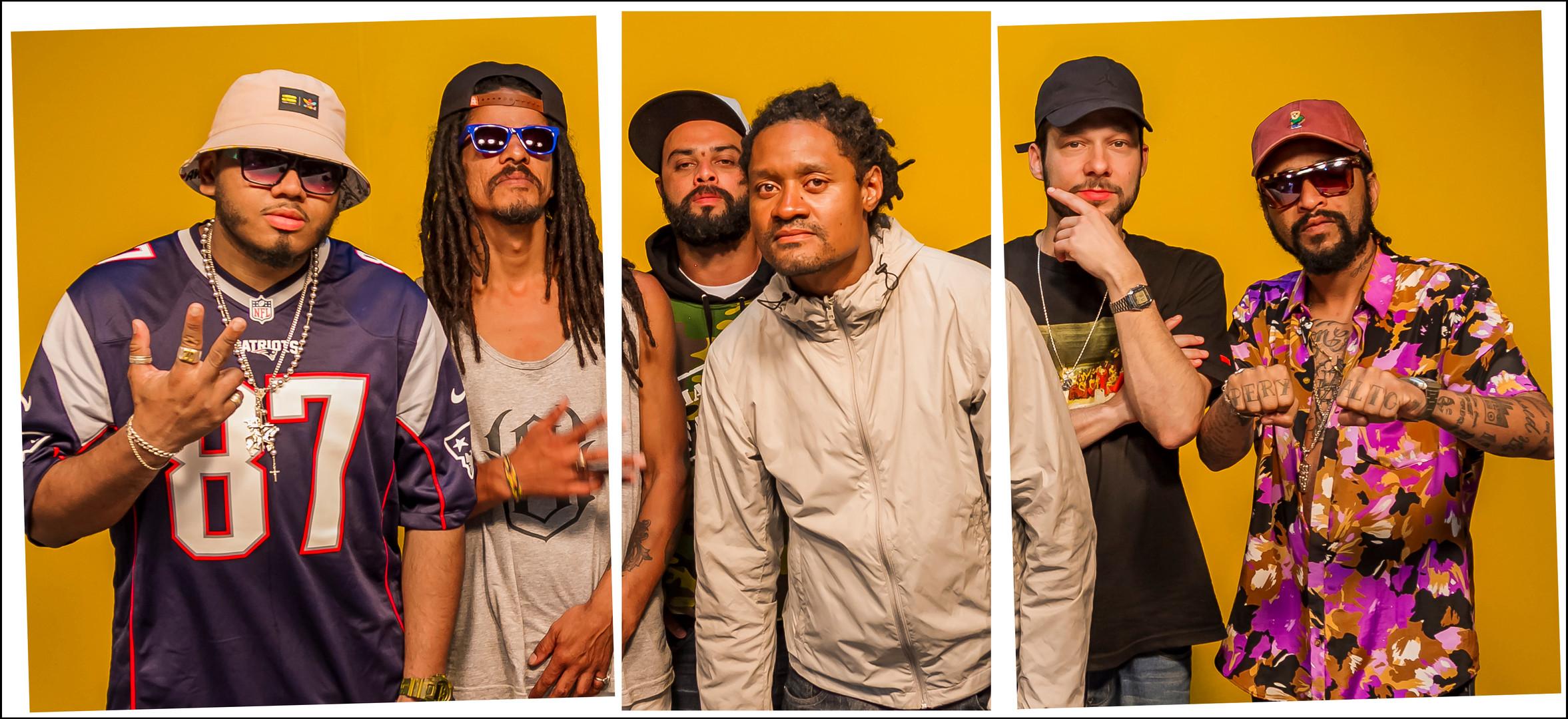 Mc Oz, Uterço, Psico, Costa Alves, Cabes e Max B.O