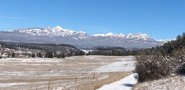 Pagosa Peak from the trail looking towards downtown.