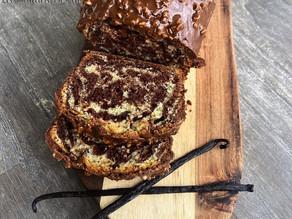 Recette Cake marbré vanille - chocolat