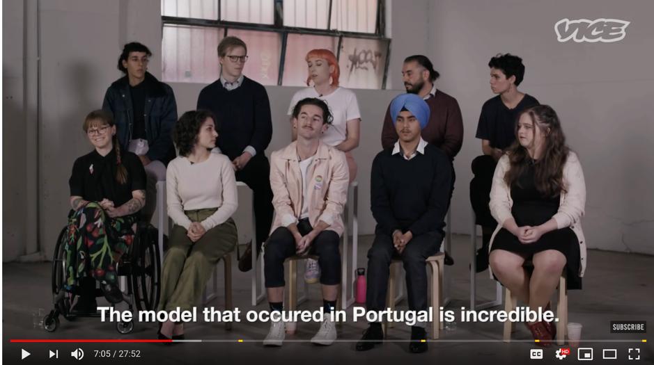 Kate describing Portugal's drug model.