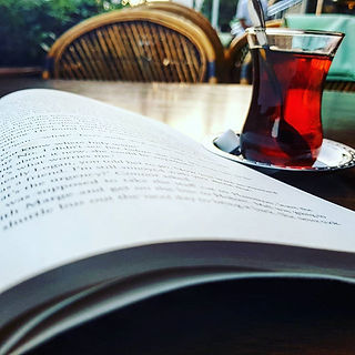 A #turkishtea and #goodread at 6am, what