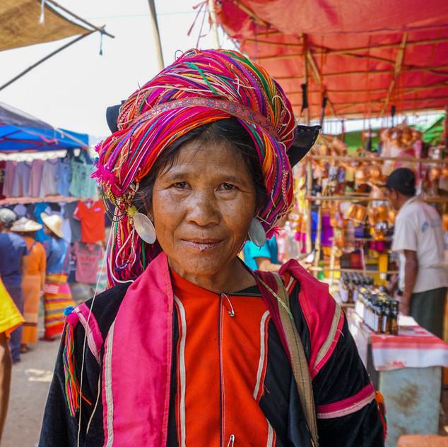 Рынок в Сипо, Мьянма