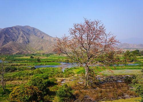 Пейзаж на реке Зоуджи, Мьянма