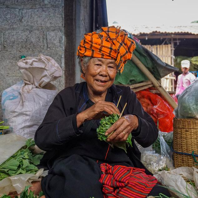 Утренний рынок в Пинлаунге, Мьянма