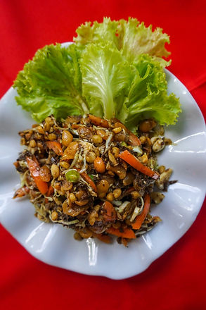 Лапхет - салт из чайных листьев, Нгапали, Мьянма