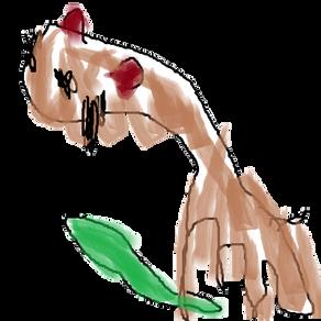 きゅうりを持ったダマスカスヤギ