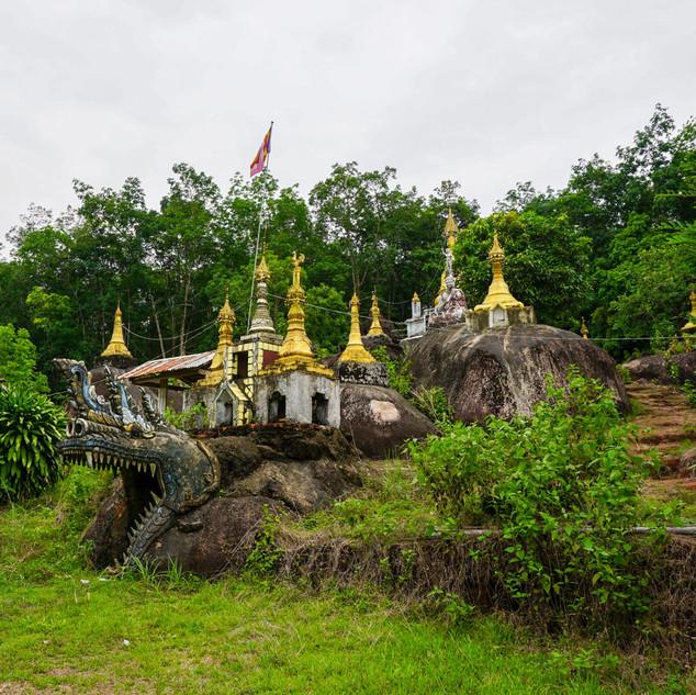 Пагода в окрестностях Йе, Мьянма