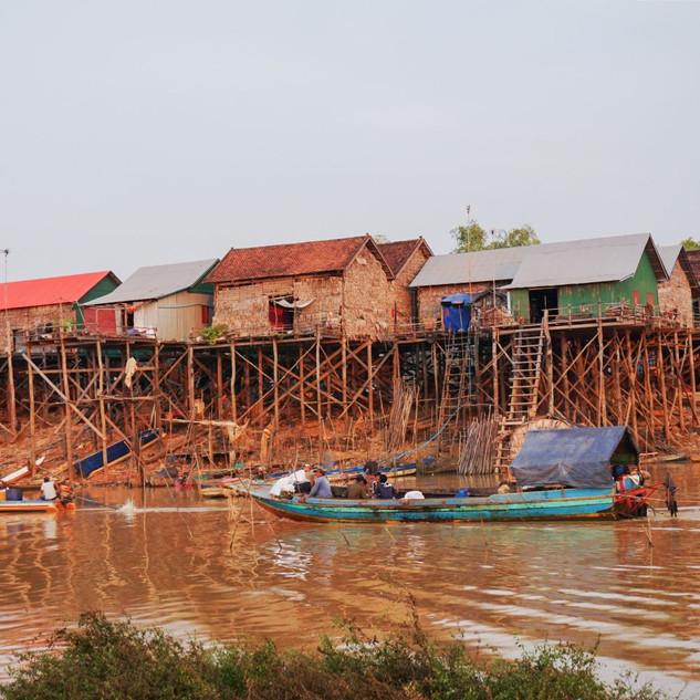Рыбацкая деревня Кампонг Клейн, Камбоджа