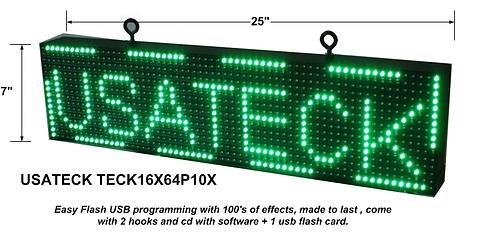 1X 2 Panel  P10 LED SIGN