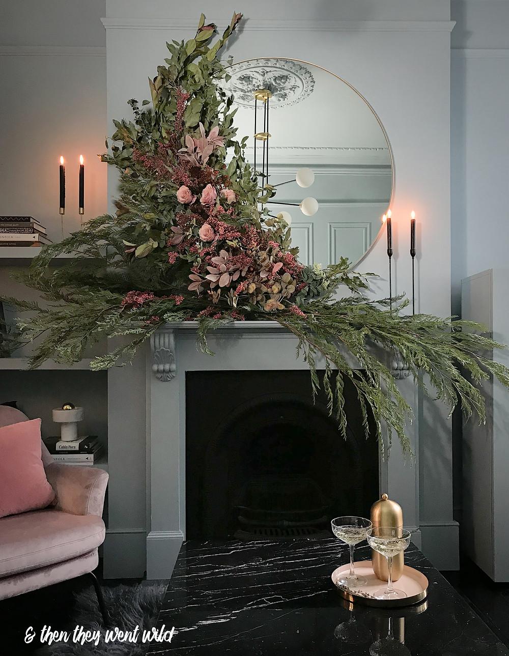 christmas styling christmas interiors christmas mantel