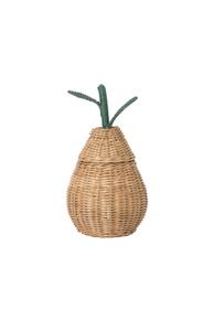 Pear braided storage basket