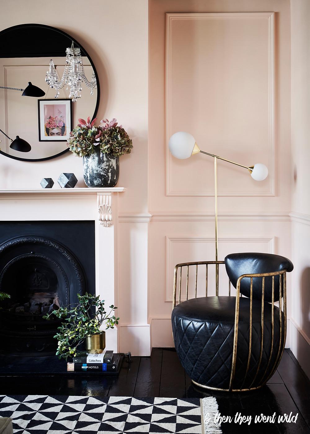 interior design mantel styling