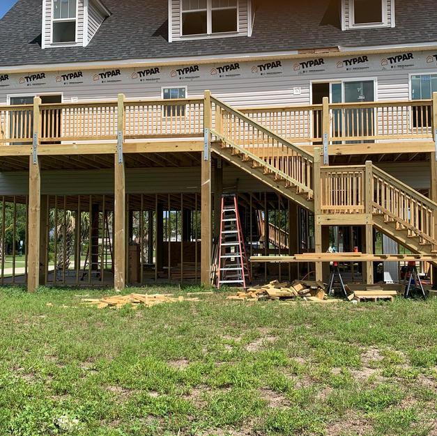 Large custom back deck
