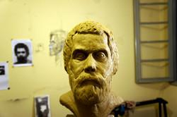 Processo de criação do Busto Valneri Antunes doado a Escola Municipal de Educação Infantil Valneri A