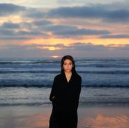 Model at Beach