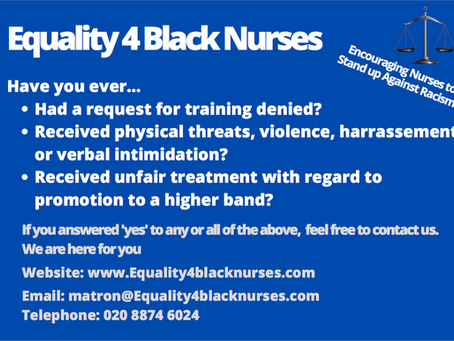 Black Nurses are increasingly under the threat of racism & discrimination in the workplace