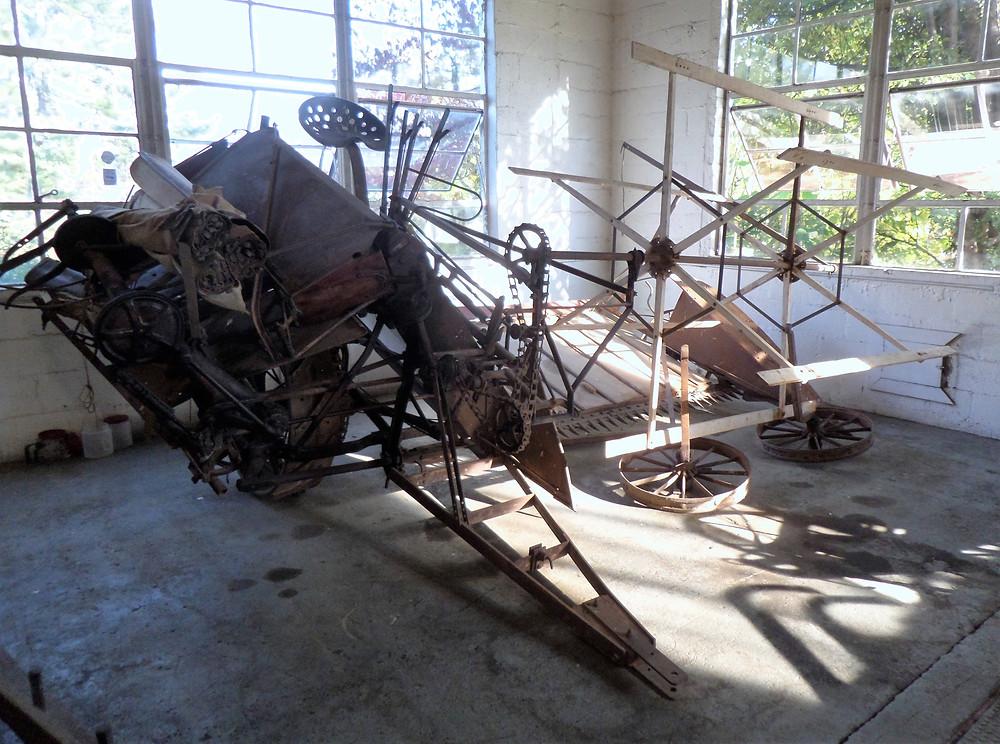 McCormick-Deering Harvester/Binder, Model 8.  Used at Virginia Tech - Northern Piedmont Research Station