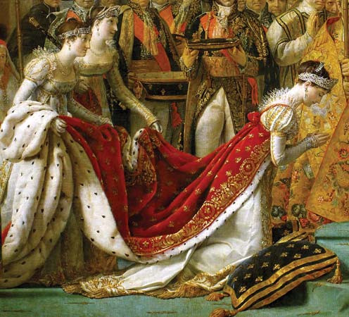 """Josephine"" - Detail from ""Coronation of Napoleon in Notre Dame"""