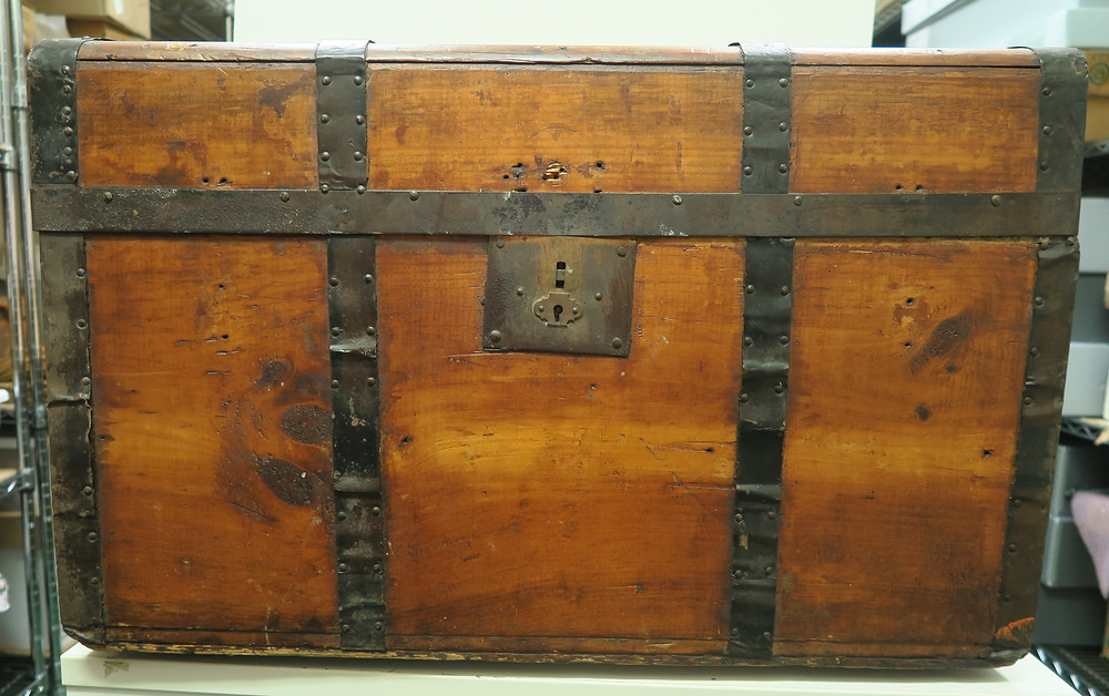 Flat Topped Trunk (1850s) - James Madison Museum Collection