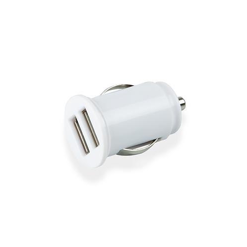 Dual USB Billaddare - White