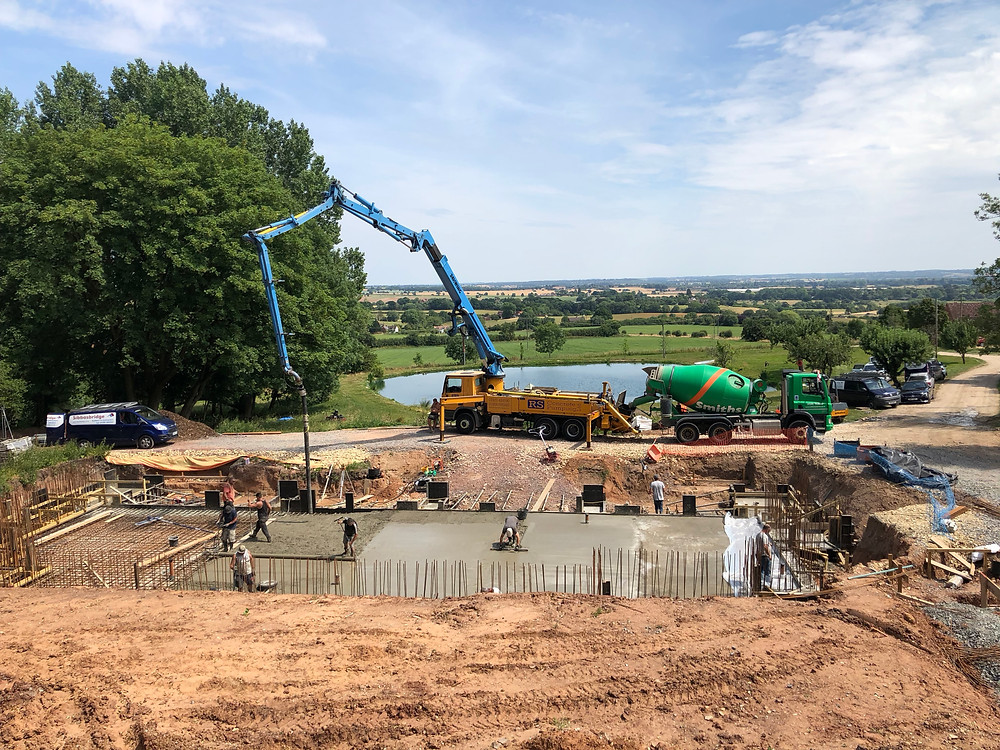 Concrete pour at Gamekeeper's Lodge