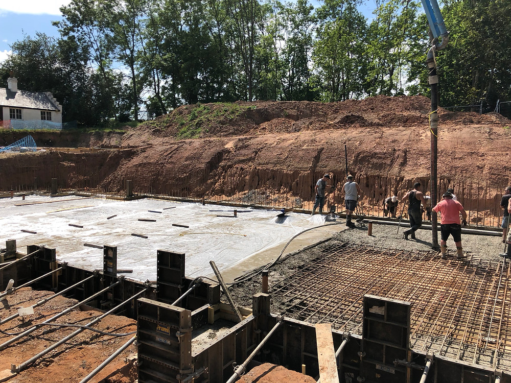 Concrete foundations at Gamekeeper's Lodge