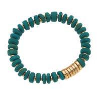Henley Bracelet - Green Turquoise Wood