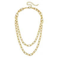 Capucine Layered Chain Necklace - Matte Gold