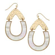 Harlow Teardrop Earrings - Mother of Pearl Shell