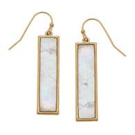 Aerin Bar Earrings - Mother of Pearl Shell