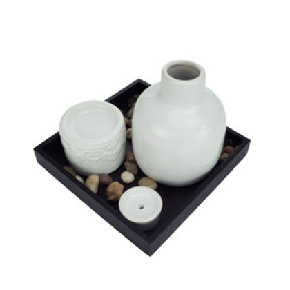 Jogo zen garden stones preto e branco